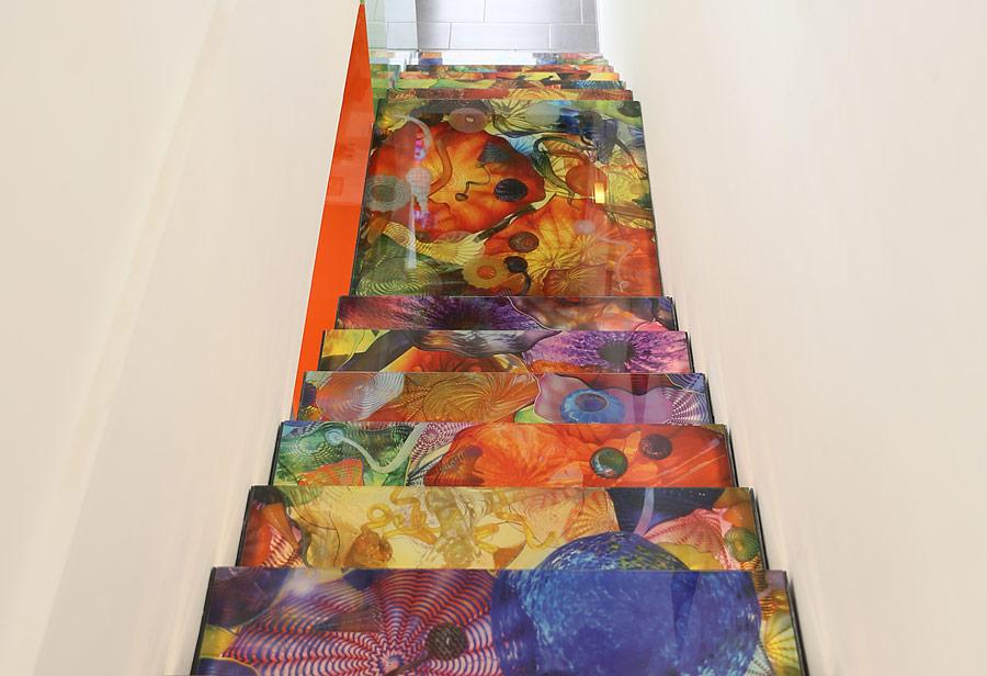 Nyomtatott design lépcső