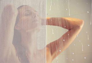 Zuhanykabin Elületvédett üveggel