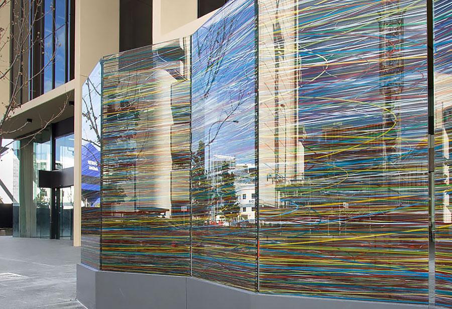 Nyomtatott üvegfal