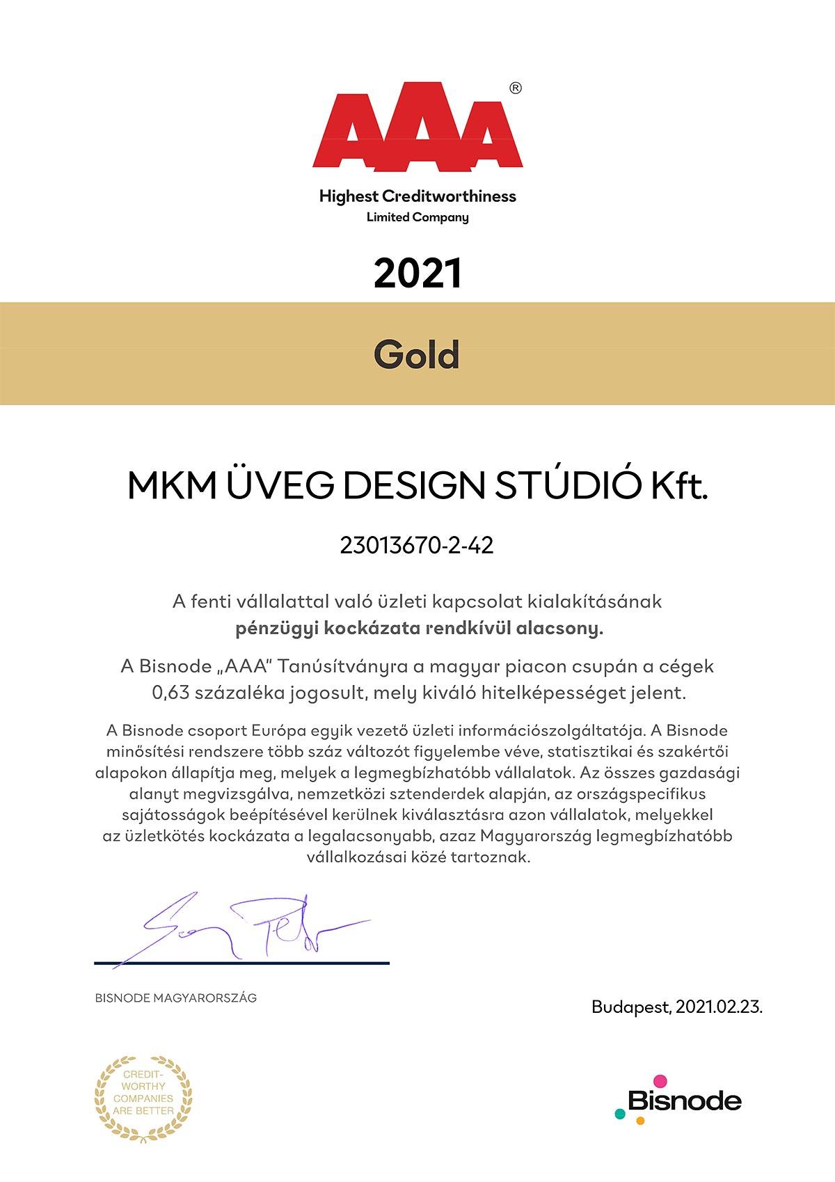 MKM bisnode AAA